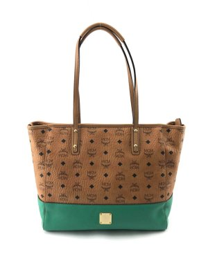 MCM Shopper cognac-coloured-green