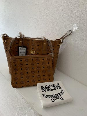 MCM Shopper Neu Cognac Limited mit clutch