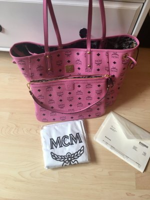 MCM Shopper Reversibel Medium Pink