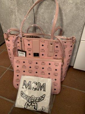 MCM Shopper Rose mit Clutch