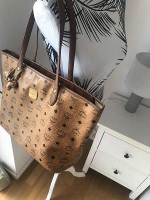 MCM Shopper Tasche Handtasche Visetos cognac + Dog Bone
