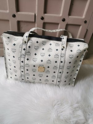 MCM Shopper Tasche Riesen Shopper Bag in weiß