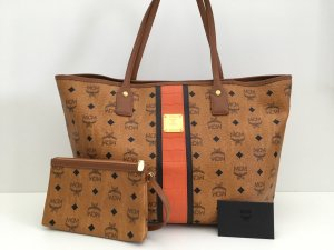 MCM Shopper cognac-coloured-orange leather