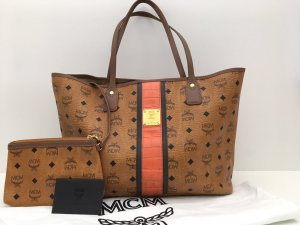 MCM Shopper cognac-coloured-black leather