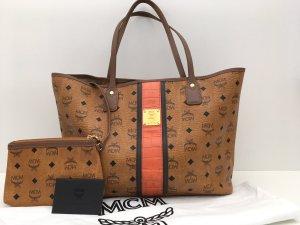 MCM Shopper Tasche Visetos orange + Pochette