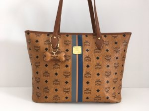 MCM Shopper cognac-coloured-black leather