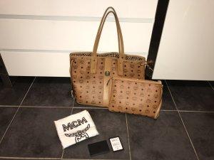 MCM Shopper Vintage Medium Cognac