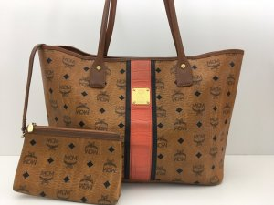MCM Shopper brown-orange leather