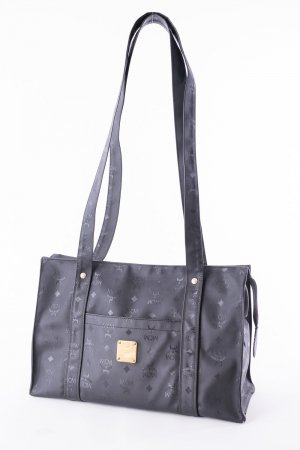 MCM Shopper black-gold-colored synthetic material