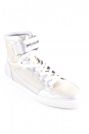 MCM Skater Shoes silver-colored-gold-colored striped pattern athletic style