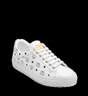 MCM Lace-Up Sneaker white