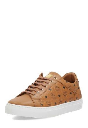 MCM Lace-Up Sneaker cognac-coloured leather