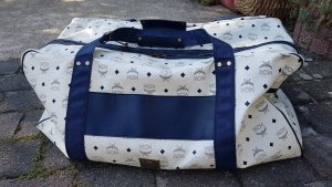MCM Sports Bag white-dark blue