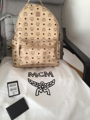 MCM Backpack cream-gold-colored