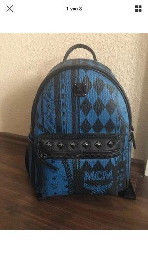 MCM stark baroque Rucksack schwarz blau neu