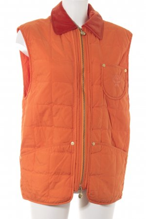 MCM Steppweste orange-dunkelorange Steppmuster sportlicher Stil