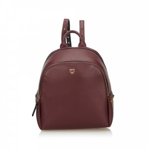 MCM Studded Polke Leather Backpack