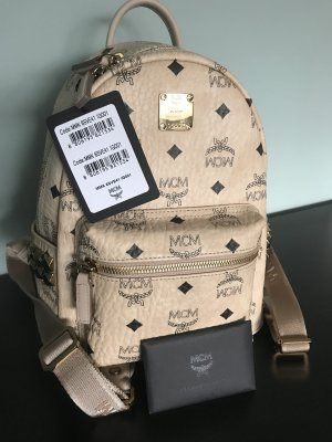 MCM Backpack cream-gold-colored imitation leather