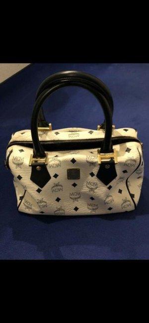 MCM Handbag white-dark blue