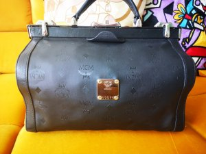 MCM Handbag black-silver-colored