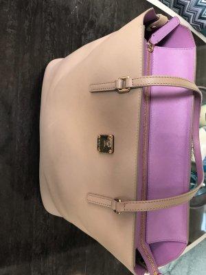 MCM Sac porté épaule crème-violet