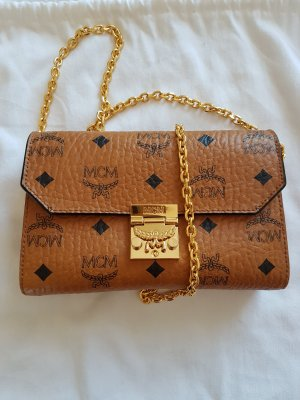 MCM Clutch gold-colored-brown