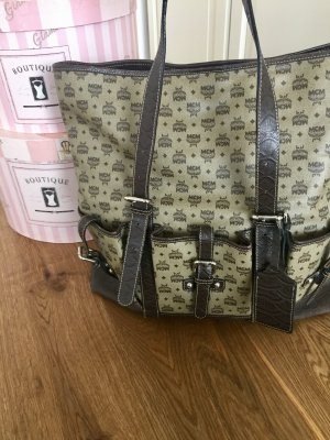 MCM Handbag grey brown-black brown