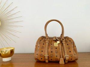 MCM Tasche Boston Bag Visetos cognac