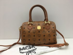 MCM Tasche Boston Bag Visetos + Schultergurt