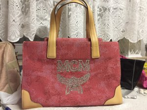 MCM Maletín rosa-color oro
