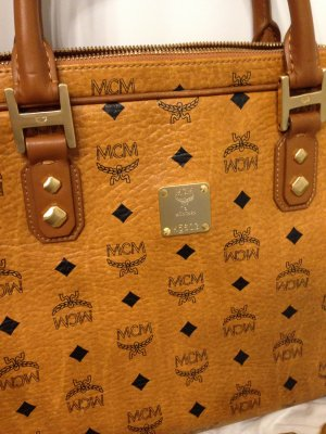 MCM Tasche Cognac Messenger