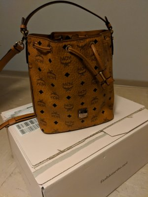 MCM Handbag black-cognac-coloured