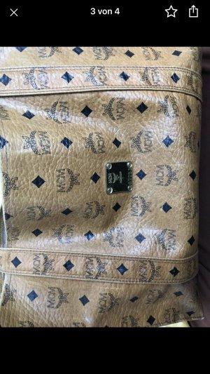 MCM Fringed Bag bronze-colored