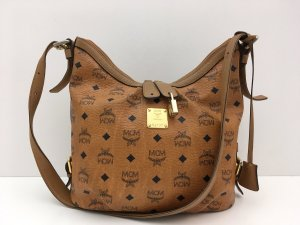 MCM Crossbody bag cognac-coloured-black leather