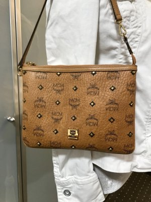 MCM Pochette cognac-coloured-gold-colored