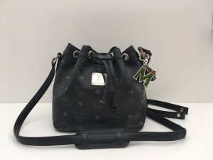 MCM Pouch Bag black-slate-gray leather