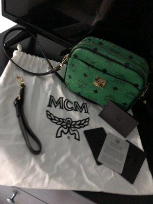 MCM Sac à main vert cuir