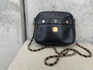 MCM Tasche Umhängetasche Leder schwarz