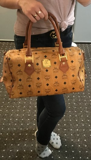 MCM Carry Bag cognac-coloured-gold-colored