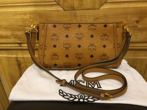 MCM Crossbody bag bronze-colored