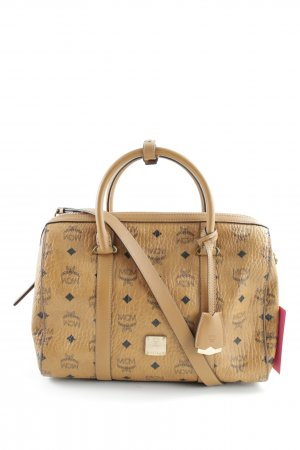 "MCM Tote ""Signature Visetos Original Boston Medium Cognac"""