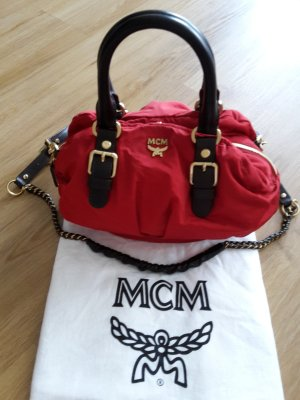 MCM trendy Nylontasche in rot