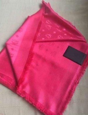 MCM Panno di seta rosso lampone-magenta