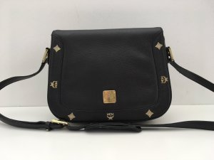 MCM Crossbody bag black-gold-colored leather