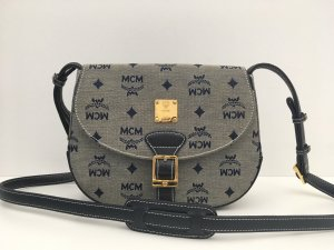 MCM Crossbody bag grey-slate-gray textile fiber