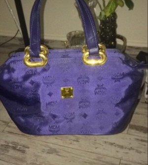 MCM Sac à main bleu foncé-violet foncé