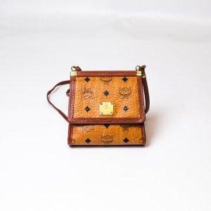 MCM Bolsa de hombro marrón-beige Cuero