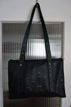 MCM Vintage Shopper Tasche Blogger Heritage Monogramm schwarz