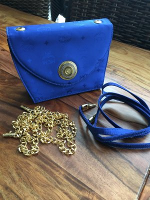MCM Handbag blue-gold-colored