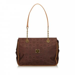 MCM Tote dark brown nylon